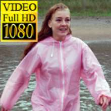 Fetishlovers: Movie of Lilianne in a PVC rainsuit with Buffalo boots