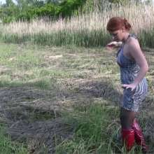 DIDVP: Lynn's red boots gets stuck in knee deep mud.
