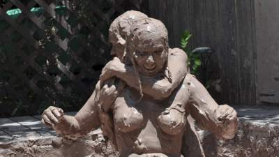 Large tits women naked mud wrestling — 11