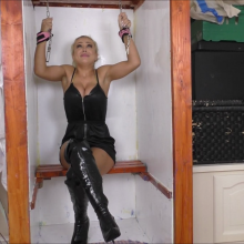 CandyCustard: It's #wamwednesday!  Stunning blonde gunged in PVC, thighboots and topless